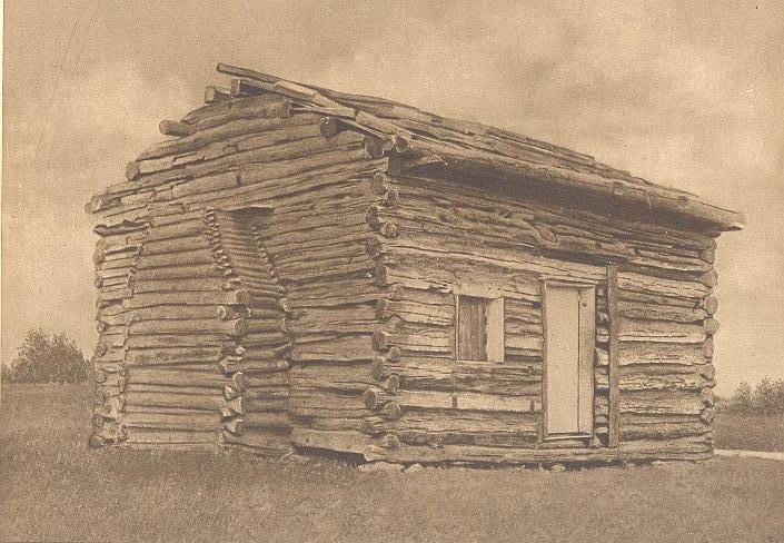 Abraham Lincoln Log Cabin ~ Abraham lincoln log cabin kentucky antique art print ebay